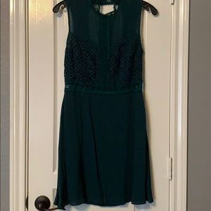 NWT Dark green lace dress